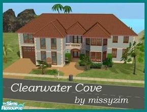 Sims 2 — Clearwater Cove by missyzim — Beachside family home. Unfurnished. All maxis content.