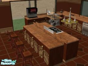 Sims 2 — Little Italy by angiesupers — Great open lay out with inlaid hardwood floors. The kitchen have pass thru with