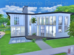 Sims 4 — Transparente Blanche by Prickly_Hedgehog — This is a lovely home for up to four sims. It comes with a pool, a
