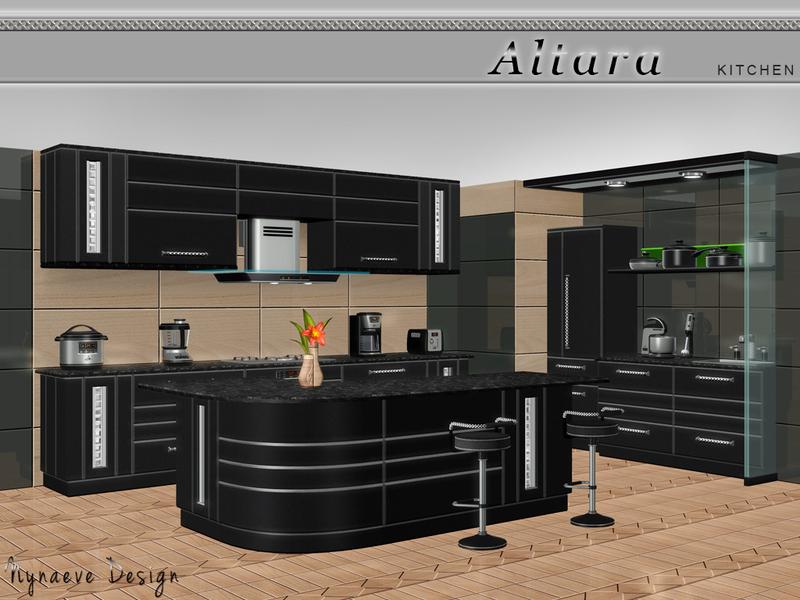 Nynaevedesign39s altara kitchen for Sims 3 interior design kitchen