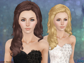Sims 3 — Roulette Hairstyle - T~E by Cazy — Hairstyle for Female, Teen through Elder. All LODs included.