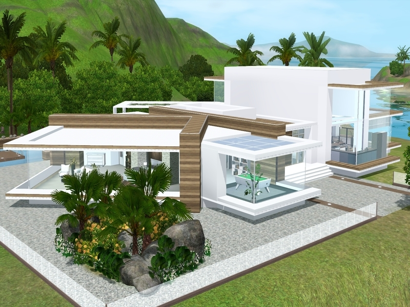 Suzz86 39 s modern view for Sims 3 home designs