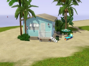 Sims 3 — Sunset Beach House by Silerna — Sunset Beach House is a small 10x10 lot for starters or beach-loving sims!
