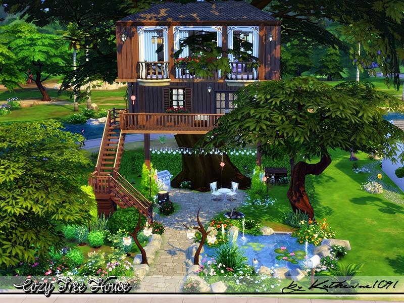 Katherine1091 39 s cozy tree house for Garden design sims 4