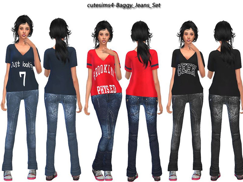 sweetsims4's baggy_Jeans_Set