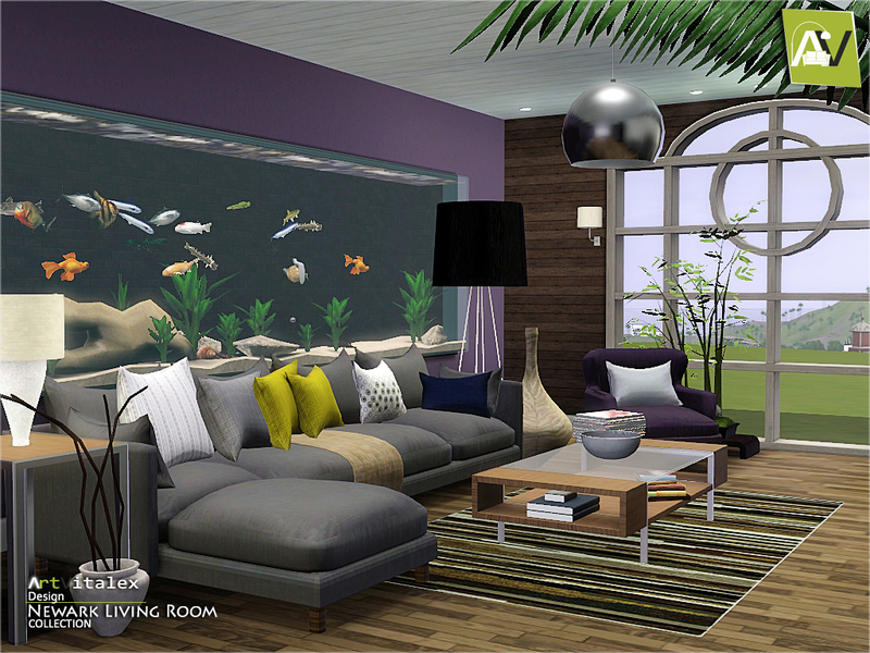 Artvitalex39s newark living room for Sims 3 living room sets