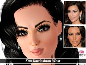 Sims 3 — Kim Kardashian West by MayarYosuf2 — Kim Kardashian is now a sim! You need to check the notes. It's REALLY