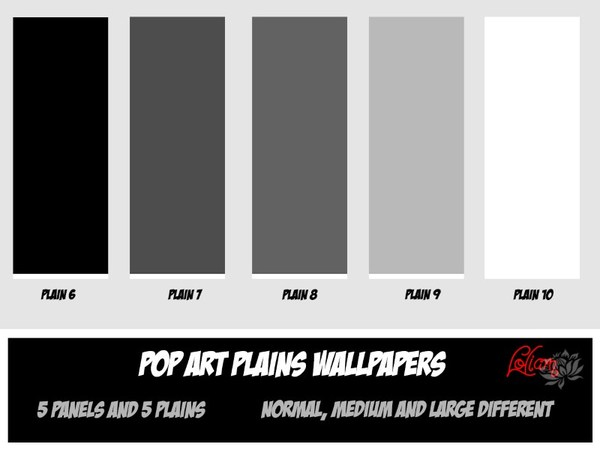 Loliamsims Pop Art Black And White Wallpaper