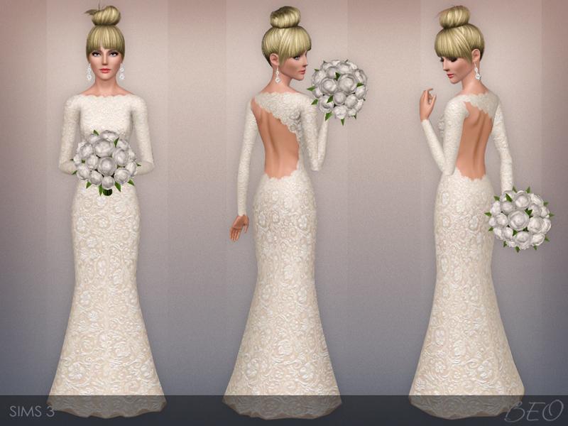 sims 3 clothing - 'wedding dress'