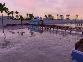 Sims 3 — Sunset Port by Silerna — Sunset Port is a port that can be placed in any neighbourhood! From now on you can have