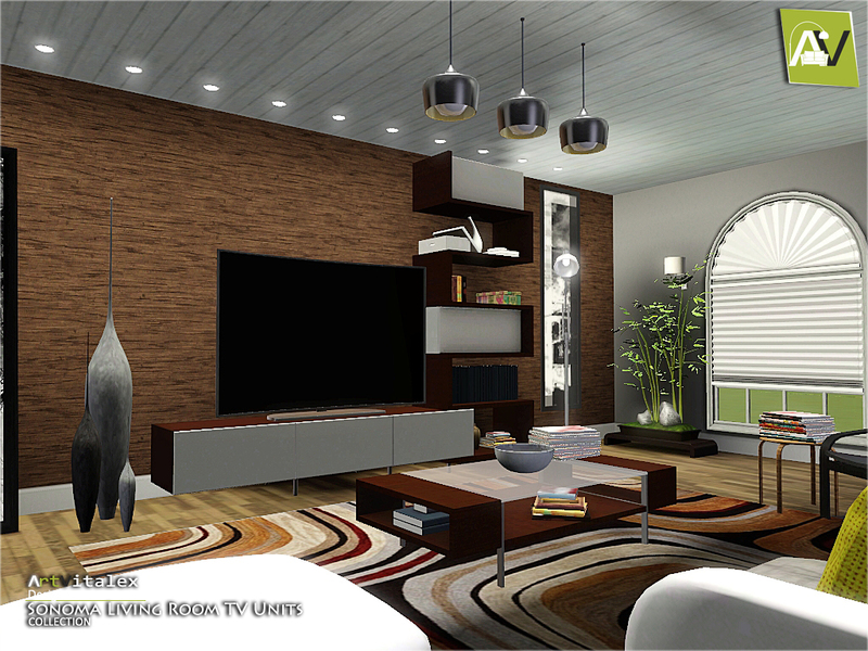 Artvitalex 39 s sonoma living room tv units for Living room ideas sims 3