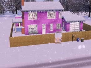 Sims 3 — Greasers' Pre-Fab: 2br, 2ba by SweetLittleRockAndRollerDesigns — This stereotypical 1950s suburban home seems to