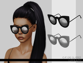 Sims 3 — LeahLillith Cat Eye Glasses by Leah_Lillith — Cat Eye Glasses 3 recolorable areas hope you will enjoy^^
