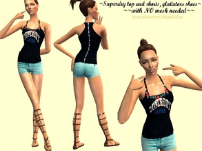 "Sims 2 — Superdry outfit by grecadea2 — Today I bring you an outfit by ""Superdry\"" brand and a pair of"