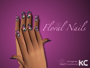 Sims 2 — Floral Nails by KCsim — Hi Simmers, I have been having difficulties logging in my account, so I know it has been