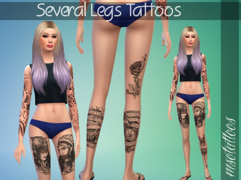 luvjake's Several Legs Tattoos for Females