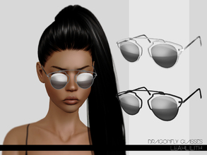 Sims 3 — LeahLillith Dragonfly Glasses by Leah_Lillith — Dragonfly Glasses three recolorable areas avilable for males and