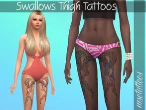 Sims 4 Female Tattoos - 'thigh'
