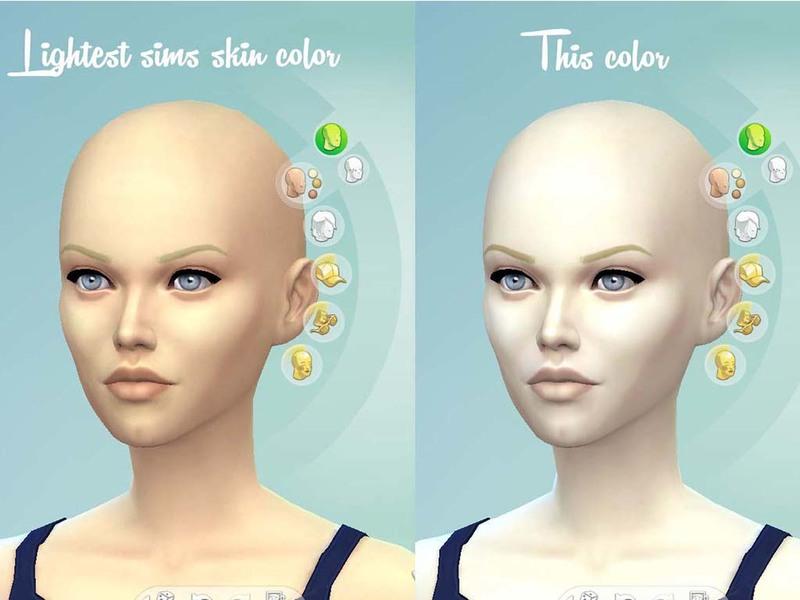 Sims 4 Pale Skin