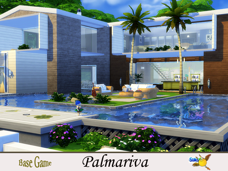 Evi palmariva for Big modern house sims 4