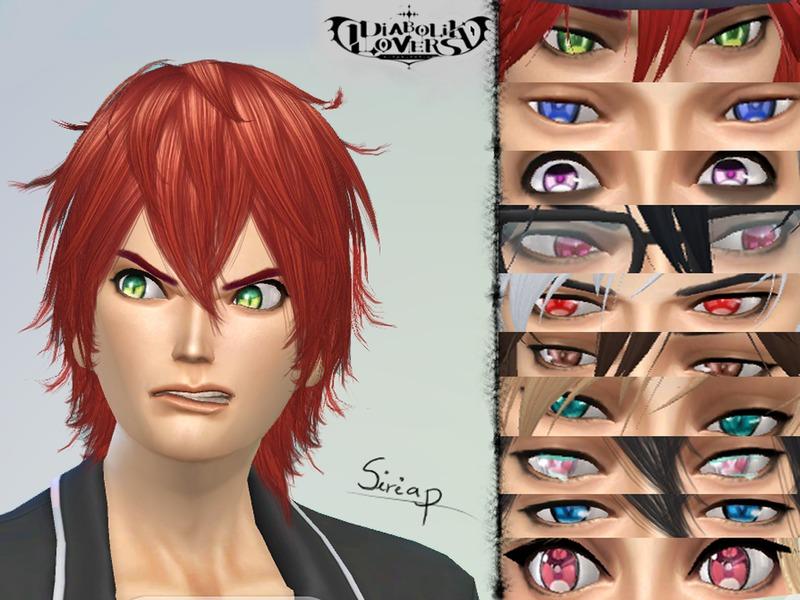 Sims 4 Anime Characters Mod : Siriap s anime diabolik lovers eyes