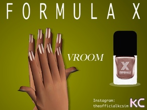 Sims 2 — Light Brown Metallic Nail Polish by KCsim — Remember to adjust your settings HIGH in the game for best results.