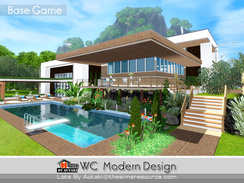 Autaki 39 s wc modern design for Casa moderna sims 3 sin expansiones