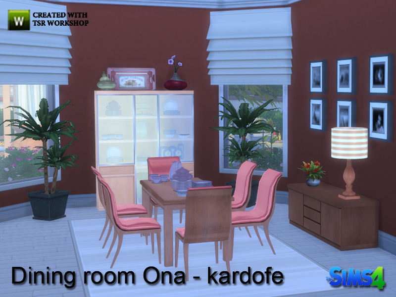 Kardofe dining room ona for Dining room ideas sims 4