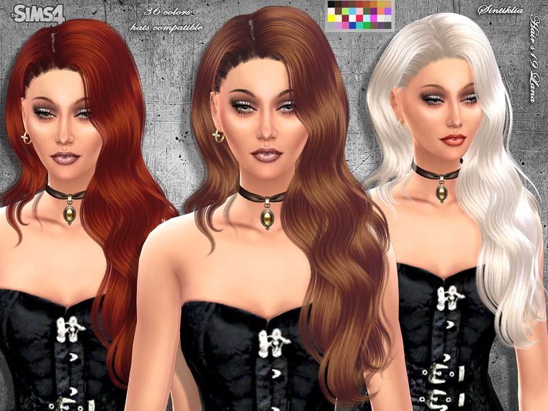 Sintikliasims Sintiklia Hair S19 Lana It's still very similar to the old palette but a lot of the colors are not so shiny anymore. sintikliasims sintiklia hair s19 lana