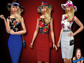 Sims 4 — Floral Wedding Outfit by SIMSCREATIONS13 — Floral Wedding Outfit comes in 3 colours. 1. Has a black top with