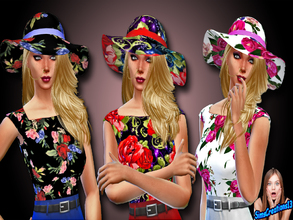 Sims 4 — Floral Wedding Hat by SIMSCREATIONS13 — Floral Wedding Hat comes in 3 colours. 1. Has a black background with