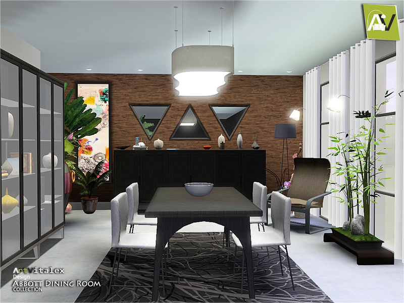 Artvitalex 39 s abbott dining room for Sims 3 dining room ideas