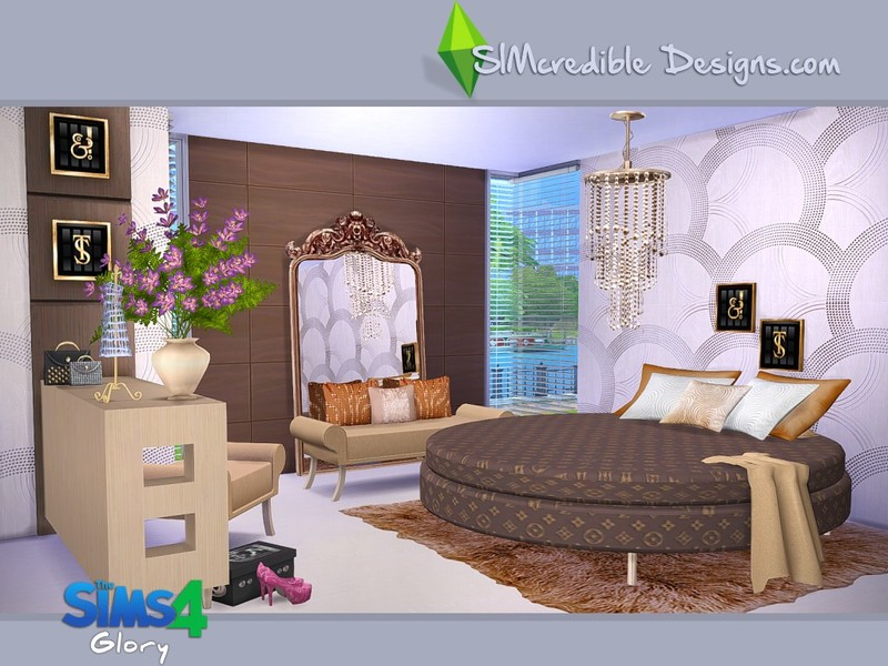 Simcredible 39 s glory for Bedroom designs sims 4
