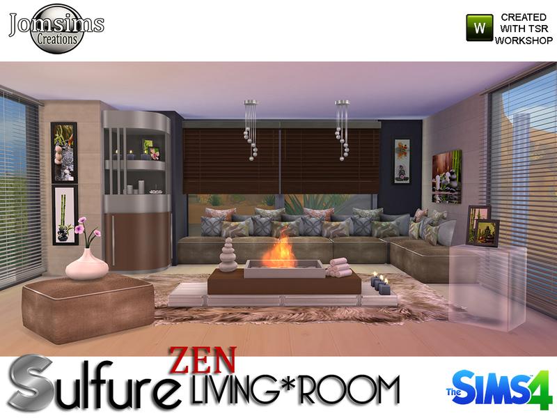 jomsims 39 sulfure zen living room. Black Bedroom Furniture Sets. Home Design Ideas