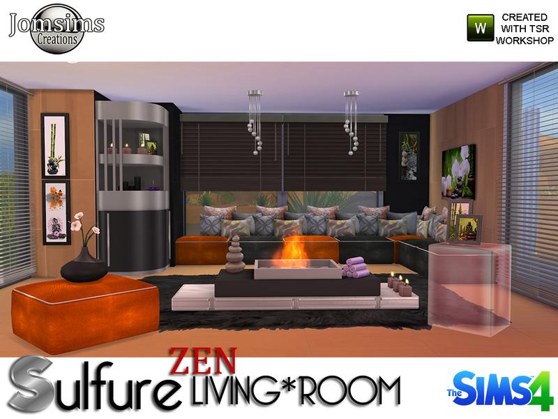 Jomsims 39 Sulfure Zen Living Room