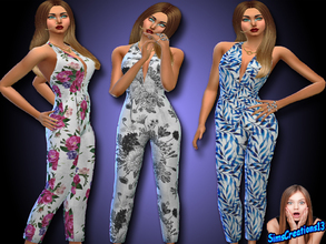 Sims 4 — Jumpsuit Set 1 by SIMSCREATIONS13 — The jumpsuit comes in three patterns. A jumpsuit for all occasions.