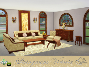 Sims 4 — Livingroom 'Victoria' by BuffSumm — Give your Sims a place to dream back in the past. Victoria stand for a mix