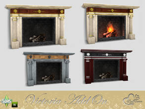 Vintage Victorian / Sims 4 Fireplaces