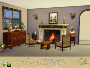 Sims 4 — Victoria AddOn Set by BuffSumm — Some goodies for your backtraveling :) You get some decorative items, lamps and