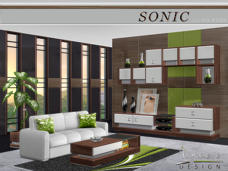 Nynaevedesign 39 s sonic living room for Living room sims 4