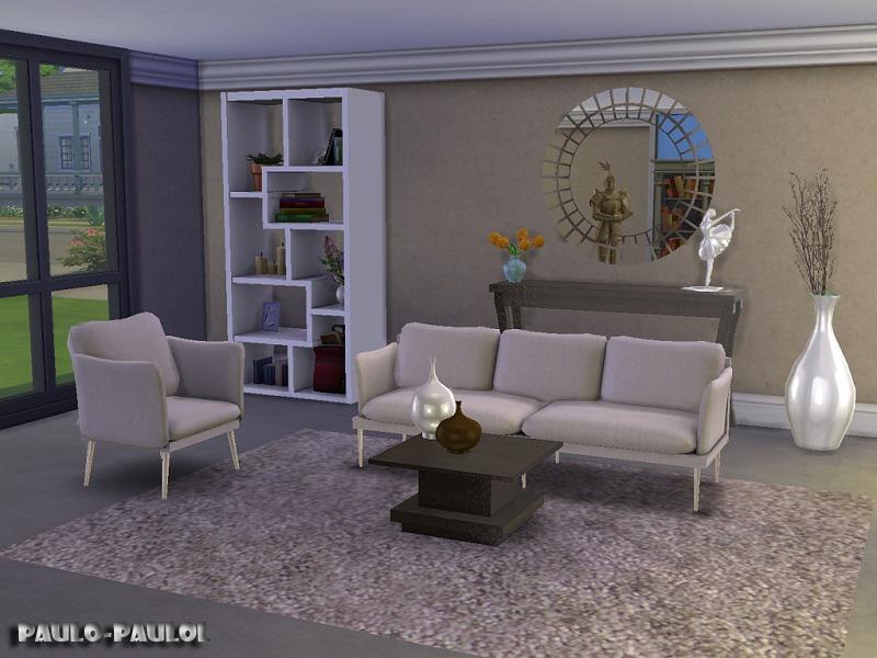 Paulo paulol 39 s living room fiona for Modern living room sims 4
