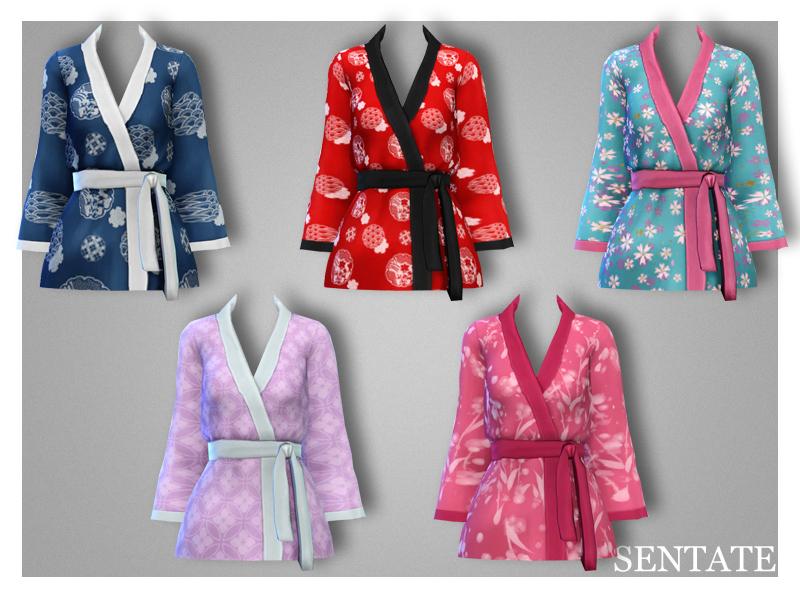 Sims 4 cc kimono jacket
