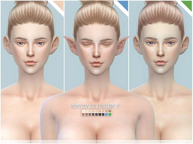 S-Club ts4 Snow Elf skintones all-age II
