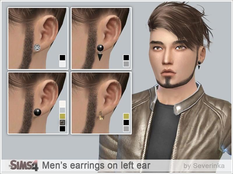 Severinka_s Mens earrings on left ear