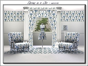 Sims 3 — Spring in a Jar_marcorse by marcorse — Themed pattern - blue Spring hyacinths in a mason jar., All except Spring