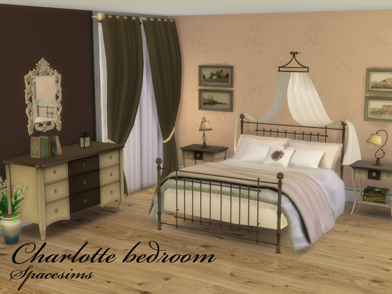 Spacesims 39 charlotte bedroom for 3 bedroom set