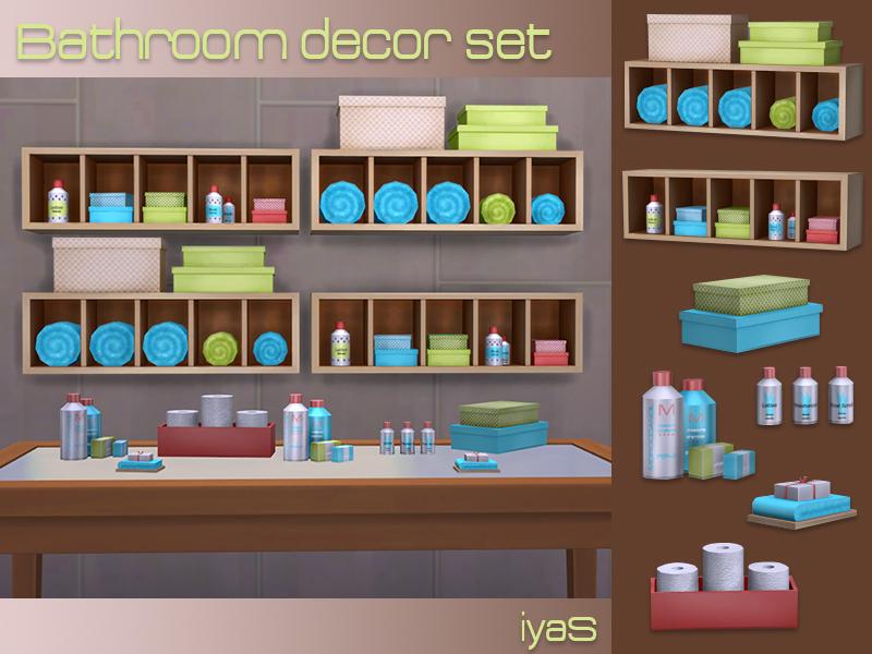Soloriya 39 s bathroom decor set for Bathroom decor sims 3