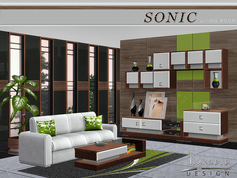 Nynaevedesign 39 s sonic living room for Sims 3 living room ideas