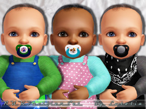 Sims 3 — NUK Pacifier2 - Baby by Lutetia — A cute NUK pacifier with optional stencils (clown and tigerduck) ~ Works for