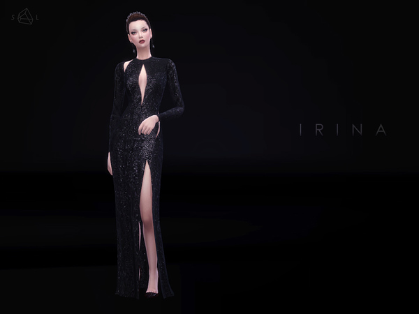 Cutout Sequined Gown IRINA (Tom Ford)